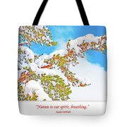 Snow-covered Conifer Tote Bag