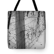 Snow Fence Tote Bag