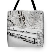 Snow In Central Park Nyc Tote Bag