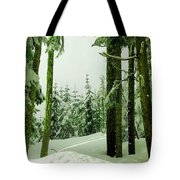 Snow In The Forest Tote Bag