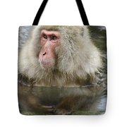 Snow Monkey Bath Tote Bag