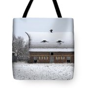 Snow On The Roof Tote Bag