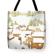 Snow Town Tote Bag