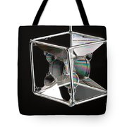 Soap Films On A Cube Tote Bag