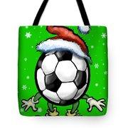 Soccer Christmas Tote Bag