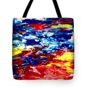 Soft Strokes Aesthetic Sunset Tote Bag