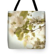 Soft White Flowers Tote Bag