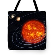 Solar System Tote Bag by Stocktrek Images