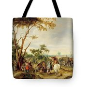 Soldiers Bivouacking Tote Bag