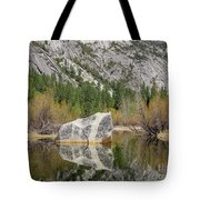 Some Beautiful Scene Of The Famous Mirror Lake Of Yosemite Tote Bag
