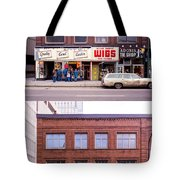 Something's Going On At The Greeting Card Center. Tote Bag by Mike Evangelist