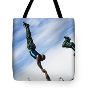 South African Street Acrobats  Tote Bag