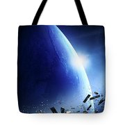Space Junk Orbiting Earth Tote Bag