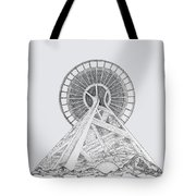 Space Needle- Looking Up Tote Bag