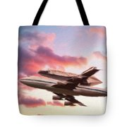 Space Shuttle Discovery Flies Off Into Retirement Tote Bag