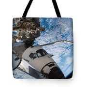 Space Shuttle Endeavour, Docked Tote Bag