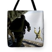 Special Operations Jumpers Exit A C-130 Tote Bag