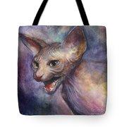 Sphynx Cat Painting Tote Bag