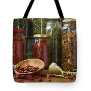 Spicy Still Life Tote Bag by Carlos Caetano