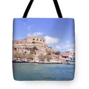 Spinalonga Greece Tote Bag