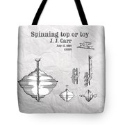 Spinning Top Or Toy Patent Art Tote Bag