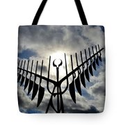 Spirit Catcher Against The Sky  Tote Bag