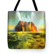 Spitting-fly Geyser In Nevada Tote Bag