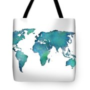 Spray Paint Map Tote Bag