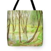 Spring Landscape, Painting Tote Bag