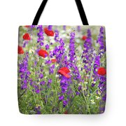 Spring Meadow With Wild Flowers Tote Bag