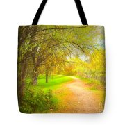 Spring Pathways Tote Bag