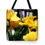 Spring Rain Through Old Glass Tote Bag