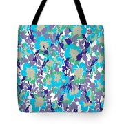 Spring Summer Flowers In Vintage Style. Seasons Floral Pattern Tote Bag