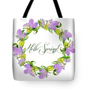 Spring Wreath Tote Bag