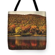 Squantz Pond In Autumn Tote Bag