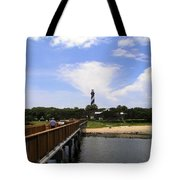 St Augustine Light On The Atlantic Coast Of Florida Tote Bag