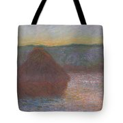 Stack Of Wheat, Thaw, Sunset Tote Bag