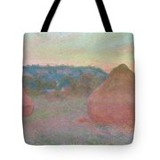 Stacks Of Wheat, End Of Day, Autumn Tote Bag