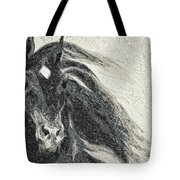 Stallion In Winter Tote Bag