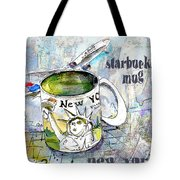 Starbucks Mug New York Tote Bag