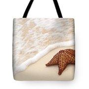 Starfish And Ocean Wave Tote Bag