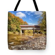 State Road Covered Bridge Tote Bag