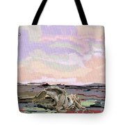 Statue Of A Horse From Branches Tote Bag