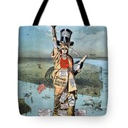 Statue Of Liberty Cartoon Tote Bag
