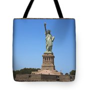 Statue Of Liberty New York America July 2015 Photo By Navinjoshi At Fineartamerica.com  Island Landm Tote Bag