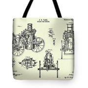 Steam Fire Engine-1896 Tote Bag