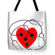 Stethoscopes And Plastic Heart Tote Bag