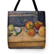 Still Life With Apples And Pears Tote Bag