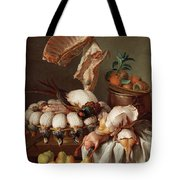 Still Life With Dressed Game, Meat And Fruit Tote Bag