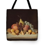 Still Life With Fruit And Nuts Tote Bag